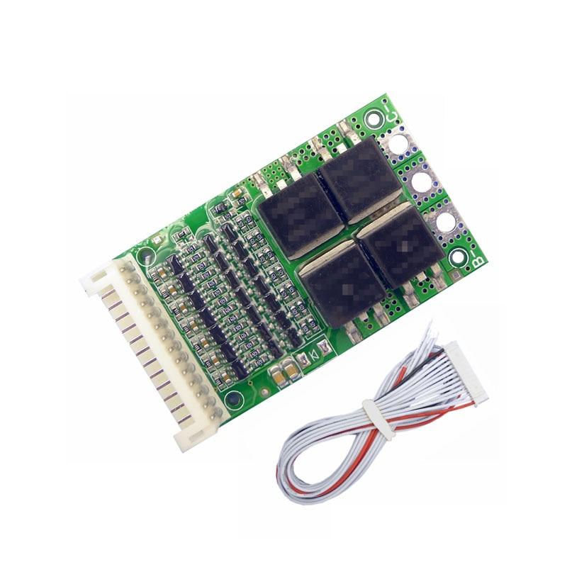 BMS 6 S 7 S 8 s 9 s 10 s 11 s 12 s 13 S 4,2 V 25A ajustable BMS de iones de litio de paquete de batería 18650 protección Módulo de circuito PCB PCM