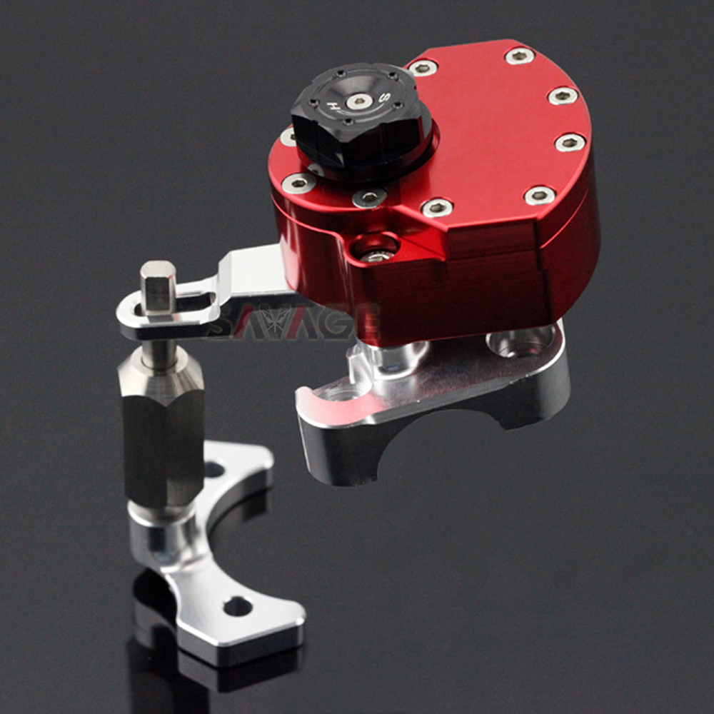 Reversed Safety Steering Damper For DUCATI MONSTER 696 2008-2014 Motorcycle Adjustable Stabilizer with Mount Bracket