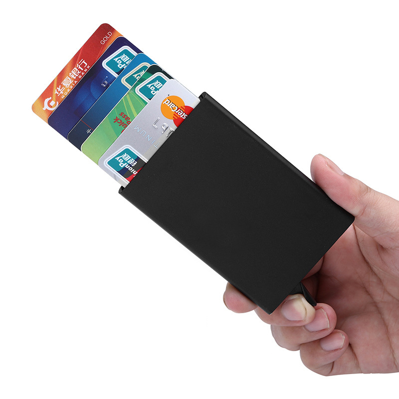 Ultrathin Metal Men's Business Card Pack Credit Card Holder Bank ID Dedicated Gift Card Cover Case Cover Check Box Very Cheap