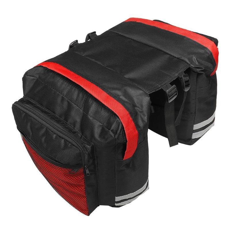 MTB Mountain Fietstas Bike Double Side Rear Rack Bag Tail Seat Trunk Pannier Tassen Fietsen Accessoires Tassen voor Mannen vrouwen