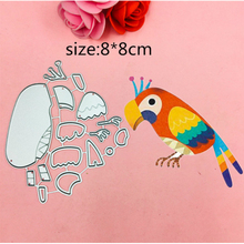 1pcs Cute Parrot metal Cutting Die+2PCS carft Tag for DIY Scrapbooking/photo album Decorative Embossing Paper Cards