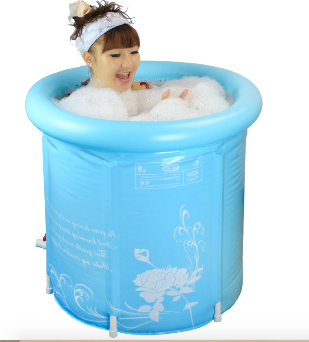Size:70*70cm,With Pump,Water Thickening Folding Tub,Adult Bathtub ...