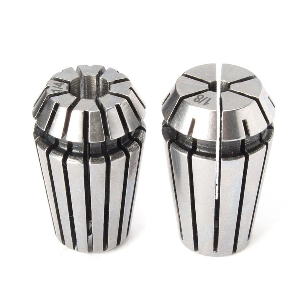 "2pcs ER16 Spring Steel Collet Chuck Tool Set 1/8"" 1/4"" 15x30mm For CNC Lathe Milling Machine Tools"