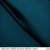 Heavy SILK CREPE DE CHINE 114cm width 30mm 100%Natural Silk plain Dye breathable Fabric Crepe De Chine Fabric Satin Fabrics No54