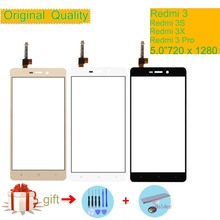 ORIGINAL For Xiaomi Redmi 3 Redmi 3S 3 Pro 3X Touch Screen Digitizer Touch Panel Sensor Front Outer Glass Redmi 3S Touchscreen аксессуар защитное стекло для xiaomi redmi 3 3s 3x 3 pro snoogy 0 33mm sn tg xia 3 3s pro
