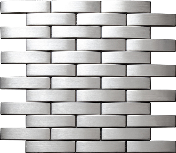 Glossy Shiny Finish Stainless Steel Mosaic Tile Mesh-mounted Kitchen Backsplash Tiles Metal Mosaic Tile Home Decor Sticker,SA202