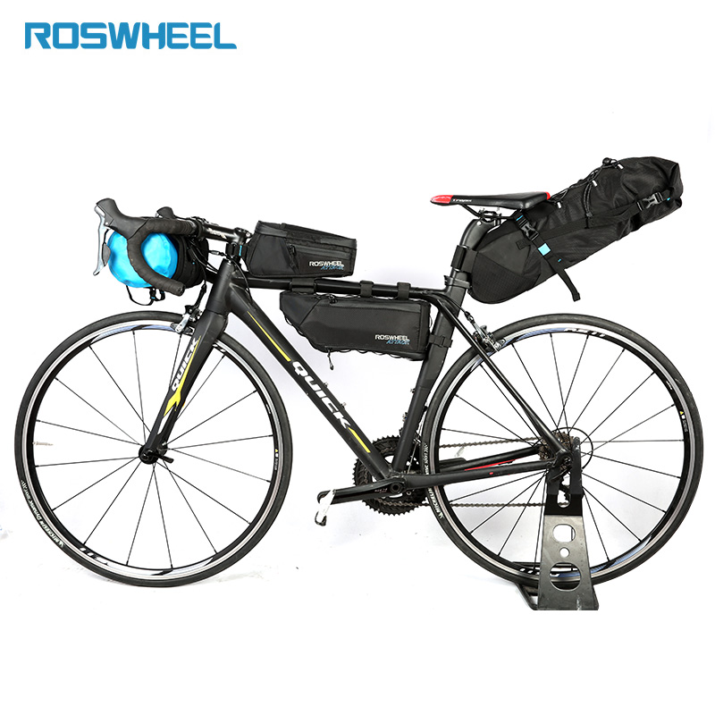 Roswheel Bicycle Triangle Bag MTB Road Bike Frame Bag Pannier Cycling Accessories Bike Rack Storage Folding Bicycle Carrier Bags roswheel bicycle bags mtb road mountain bike top tube triangle bag full waterproof high quality storage bag cyling saddle bags