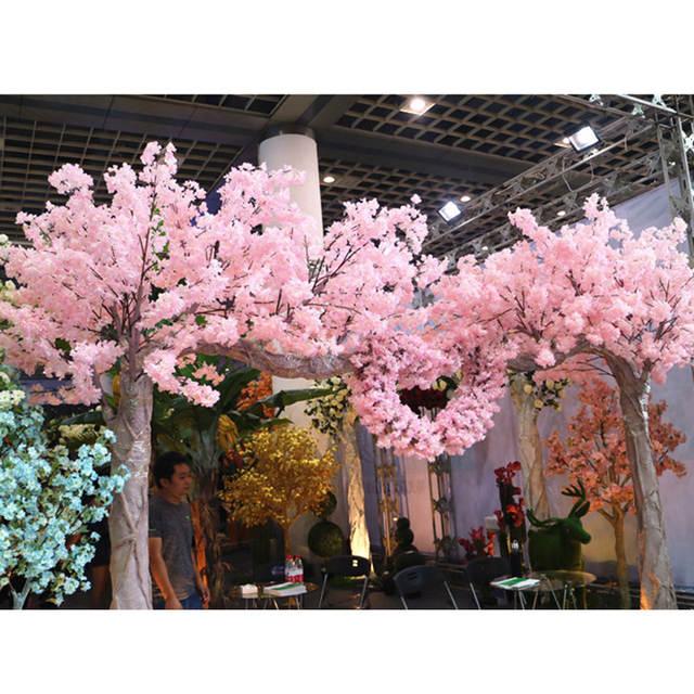 Home Decor 160 heads Natural vertical silk cherry blossom for ...