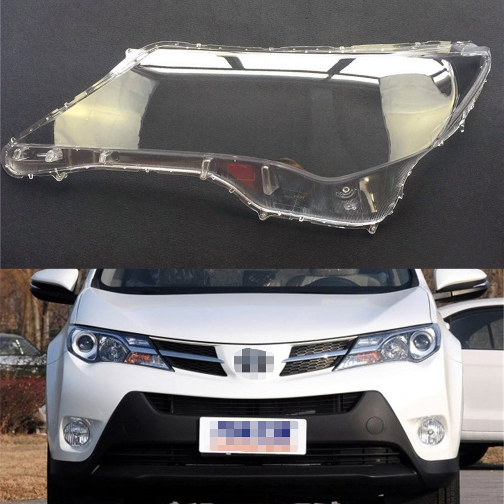 For Toyota Rav4 2013 2014 2015 Transparent Car Headlight Headlamp Clear Lens Front Auto Shell Cover