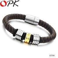 опк ювелирный бесплатная доставка кожаный браслет мужчин браслет новое прибытие черный и коричневый цвета 517