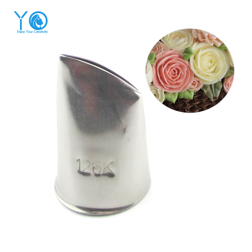 #126K Rose Flower Decorating Tip Icing Nozzle Cake ...