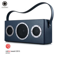 GGMM M4 Leather Wireless Digital Wi Fi Bluetooth Indoor Outdoor Speaker Featuring Airplay DLNA With Built