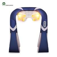 JinKaiRui Rechargeable Cordless Shoulder Body Massager Shiatsu Kneading Massage Hammer Heating Car Home Travel Dual Use