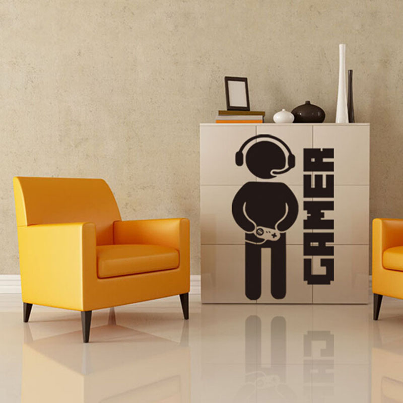 popular video games wall decals-buy cheap video games wall decals