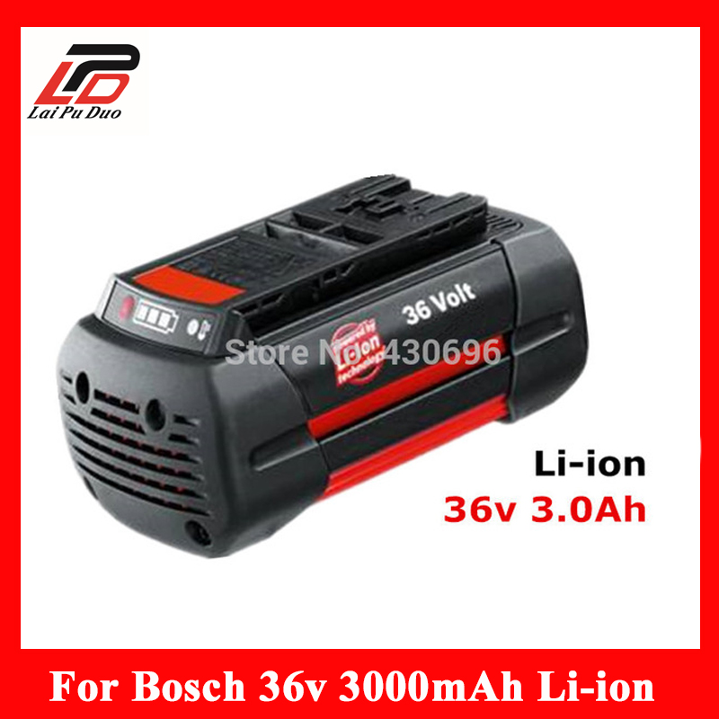 36v 3.0Ah Li-ion power tool battery Replacement For Bosch 2 607 336 108 2 607 336 108 BAT810 BAT836 BAT840 D-70771 3pcs 4000mah lithium ion replacement rechargeable power tool battery for bosch 36v 2 607 336 108 bat810 bat836 bat840 d 70771