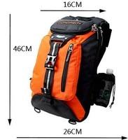 Motorcycle outdoor sports shoulder bag moto men's protective vest road bag riding package Plus Waterproof cover