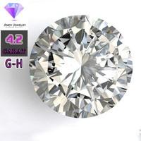 Цвет GH 10,5 мм камень Муассанит свободные синтетический бриллиант 4,2 карат для кольца