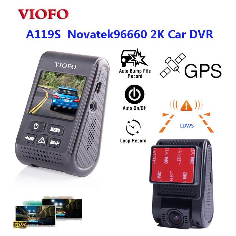 VIOFO Original A119S V2 Capacitor Novatek96660 HD 1080p 7G F1 6 Car Dash cam Camera DVR