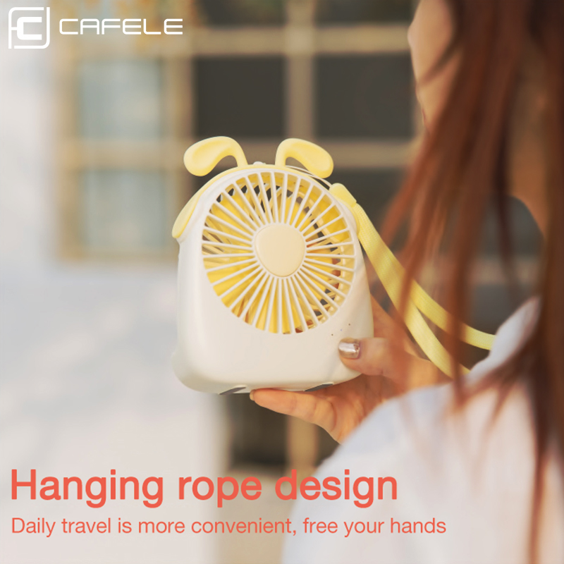 Image 4 - Cafele Mini USB Air Cooling Fan Rechargeable Portable Fan For Desktop Office PC Computer Portable Handheld 3 Speeds Mute Air fan-in USB Gadgets from Computer & Office