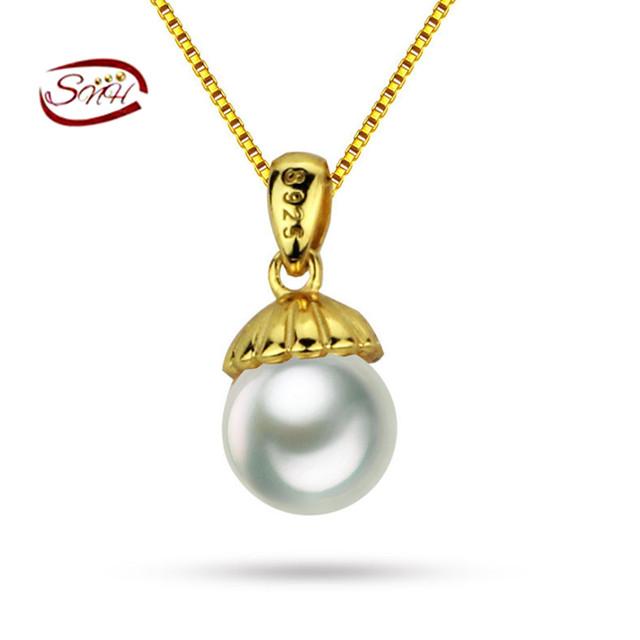 Snh 2017 novo design fine jewelry verdadeira pérola pingente com pérolas de água doce de alta qualidade lindo presente da menina mulheres
