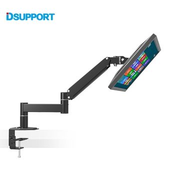 L133 Desktop Rotating 13-24 LCD LED TV Mount PC Monitor Holder Retractable Arm VESA 75/100 Load 5.5kgs Wall Distance 630mm dl d 103st 23 55 50 vesa 400x400 50kg full motion 6 arm adjustable arm tv bracket lcd wall mount led stand swivel