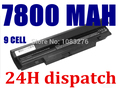 7800MAH 9CELL Laptop Battery For SAMSUNG N150 N218 N220 N143 N145 N148 N230 N250 N260 N350