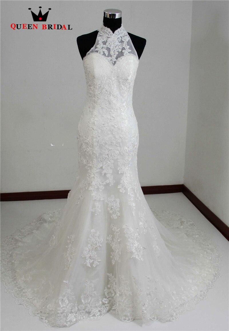 Halter Lace Wedding Dress Real Sample Wedding Gowns Bride Dresses