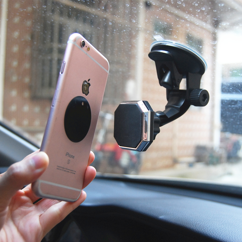 Image 2 - Adjustable Magnetic Car Holder Magnet Car Phone Holder 360 Rotatable Stand Mount Support Universal Windshield Holder free hand-in Phone Holders & Stands from Cellphones & Telecommunications