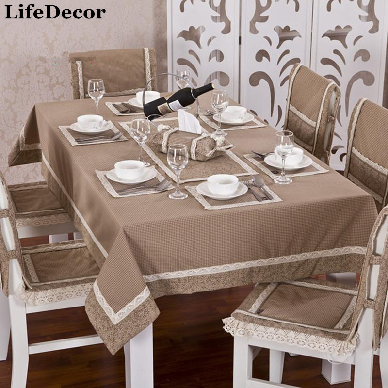 Coffee Table Cloth Dining Table Cloth Tablecloth Lace Table Runner Chair  Covers Cushion Kit Set At Home Supplies