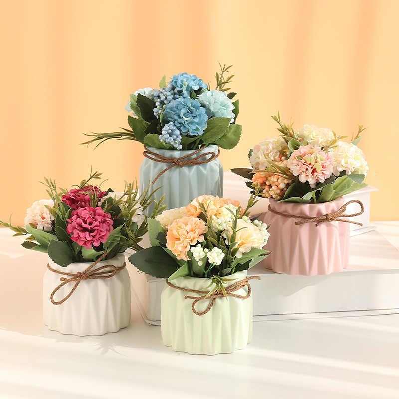 Цветы в горшках для украшения свадьбы фото