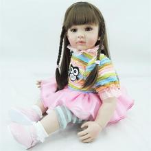22 inch 55 cm Silicone baby reborn dolls, lifelike doll reborn babies toys Cute owl Patterned clothes  doll