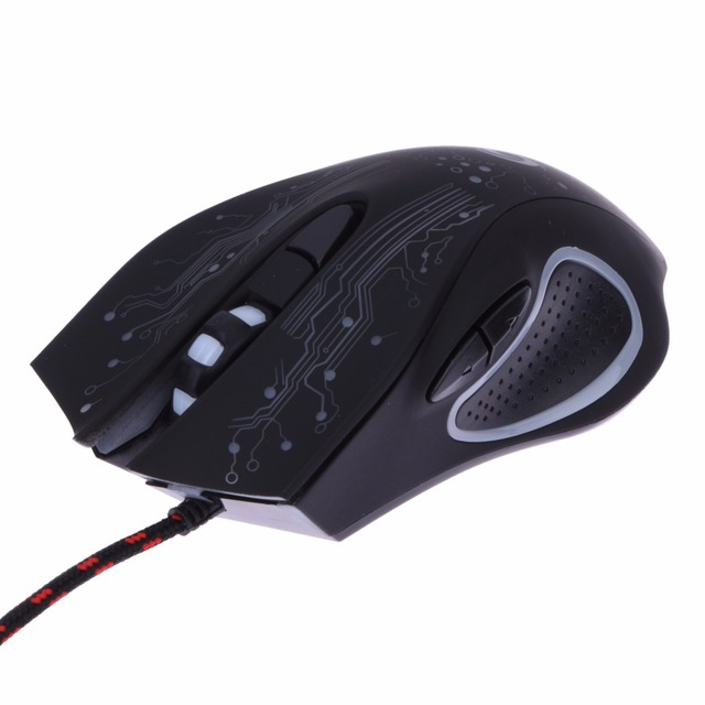 USB Wired LED Light Optical Gaming Mouse 6 Buttons 3200 DPI Computer PC Gamer Mice Backlight Esports Laptop Games Mouse for PUBG 4