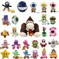 Супер Марио Плюшевые Куклы Луиджи Игрушки Donkey Kong Йоши Гриб Акула Принцесса Дэйзи Birdo Caterpillar Аниме Кулон Хлопка Подарок