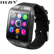 FREZEN Bluetooth Smart Watch Q18 SmartWatch With Camera MP3 Smartwatch Support SIM TF Card For Android Phone PK DZ09 A1 GT08 U8