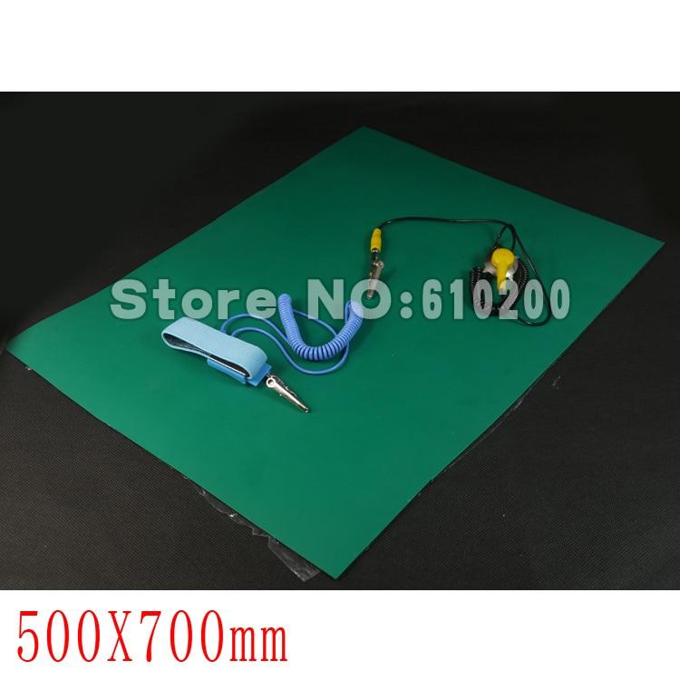 все цены на 50cm x 70cm Anti-static Mat Anti Static Pad Repair Tool For iPhone Samsung iPad etc +Ground Wire+ESD wrist serap онлайн