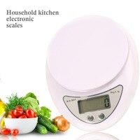 ЖК-дисплей электронные весы 5 кг/1 г цифровые весы безмен Кухня Весы Почтовый Еда баланс измерения Вес