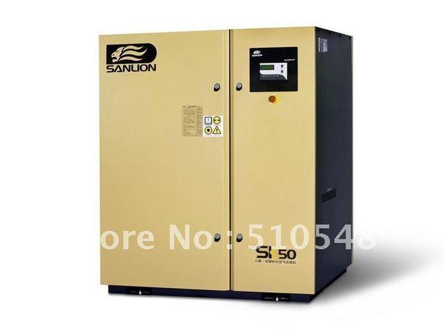 37KW 10bar SANLION silent industrial twin rotary screw air compressor