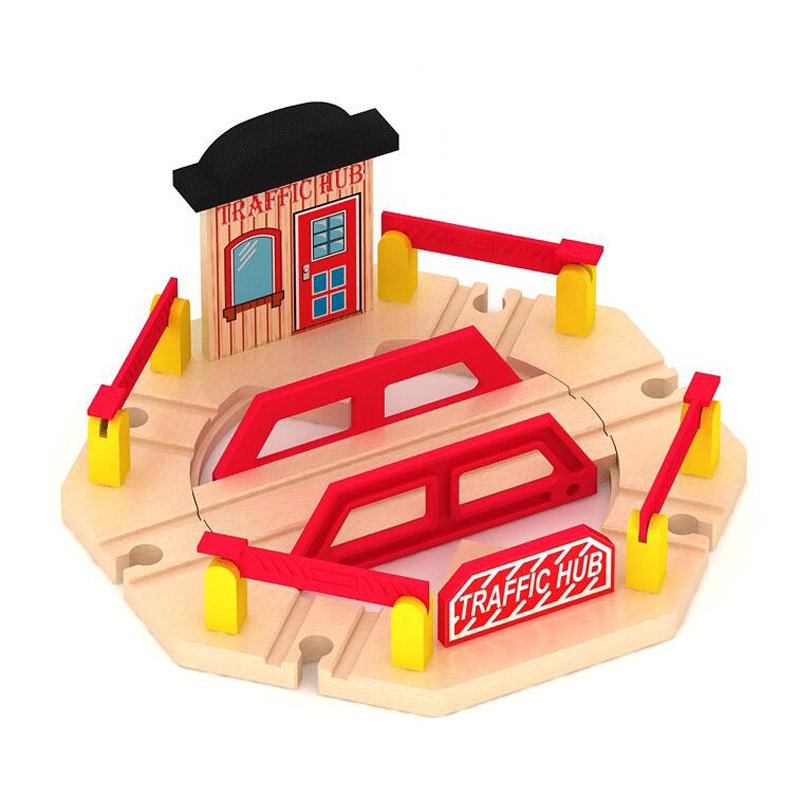 P122 Wooden Train Rail Accessories Track Compatible Thomas Train Rails Wooden Suitable for Wood and Electric boy track toys
