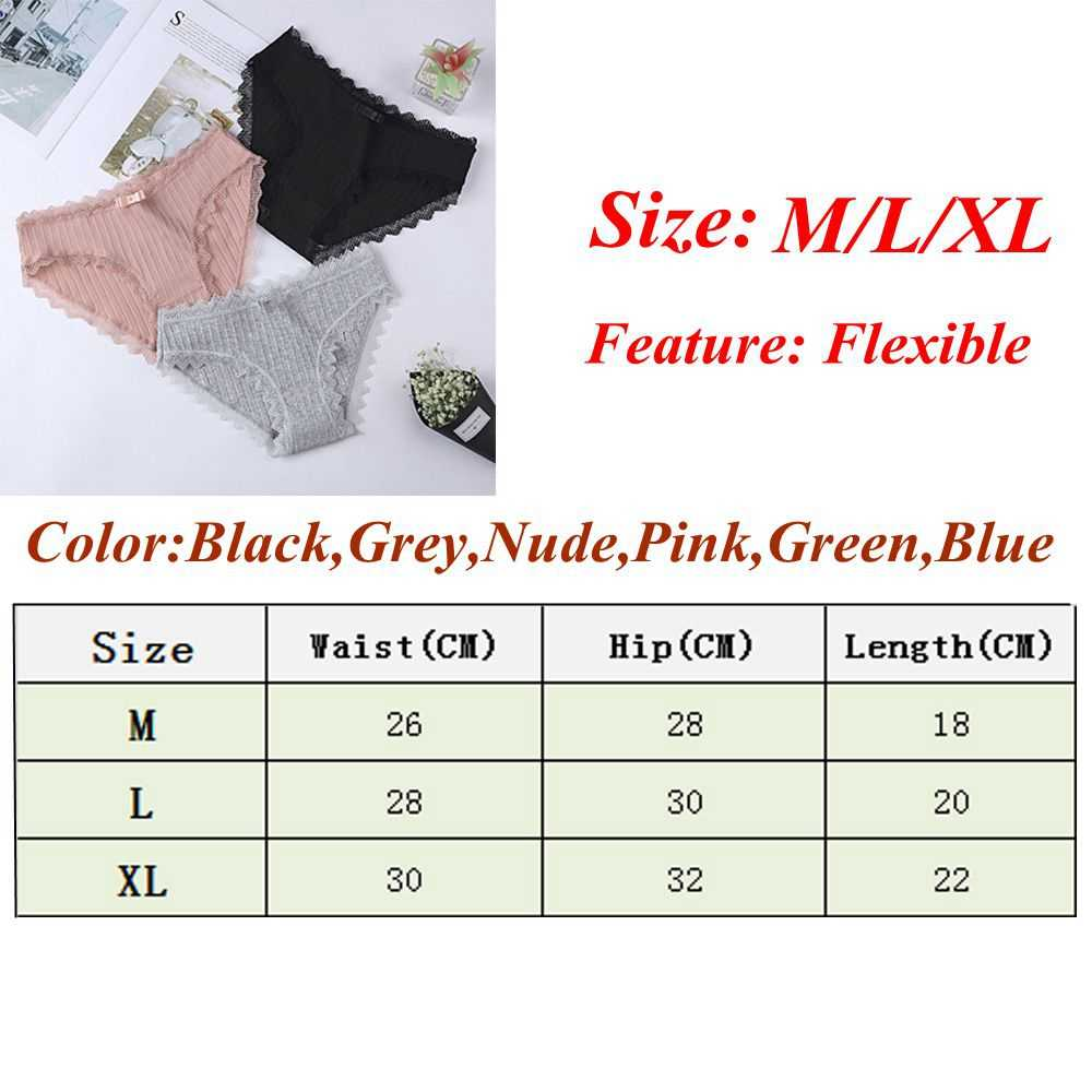 Ladies Women Sexy Cotton Lace Underwear Briefs Cute Bow Comfy Sweet Soft Comfort Lingerie Seamless Panties Fashion Female