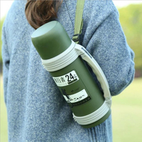 BPA חינם צנצנת 1200 ml ספורט בקבוק מים 304 נירוסטה Flask בקבוקי מים עבור סיור נסיעות חיצוני מחנה מסלולי טיולים רכיבה על אופניים יוגה