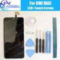 Umi Макс ЖК-Дисплей + Сенсорный Экран 100% Оригинальный ЖК-Дигитайзер Стеклянная Панель Замена Для Umi Max + инструменты + клей