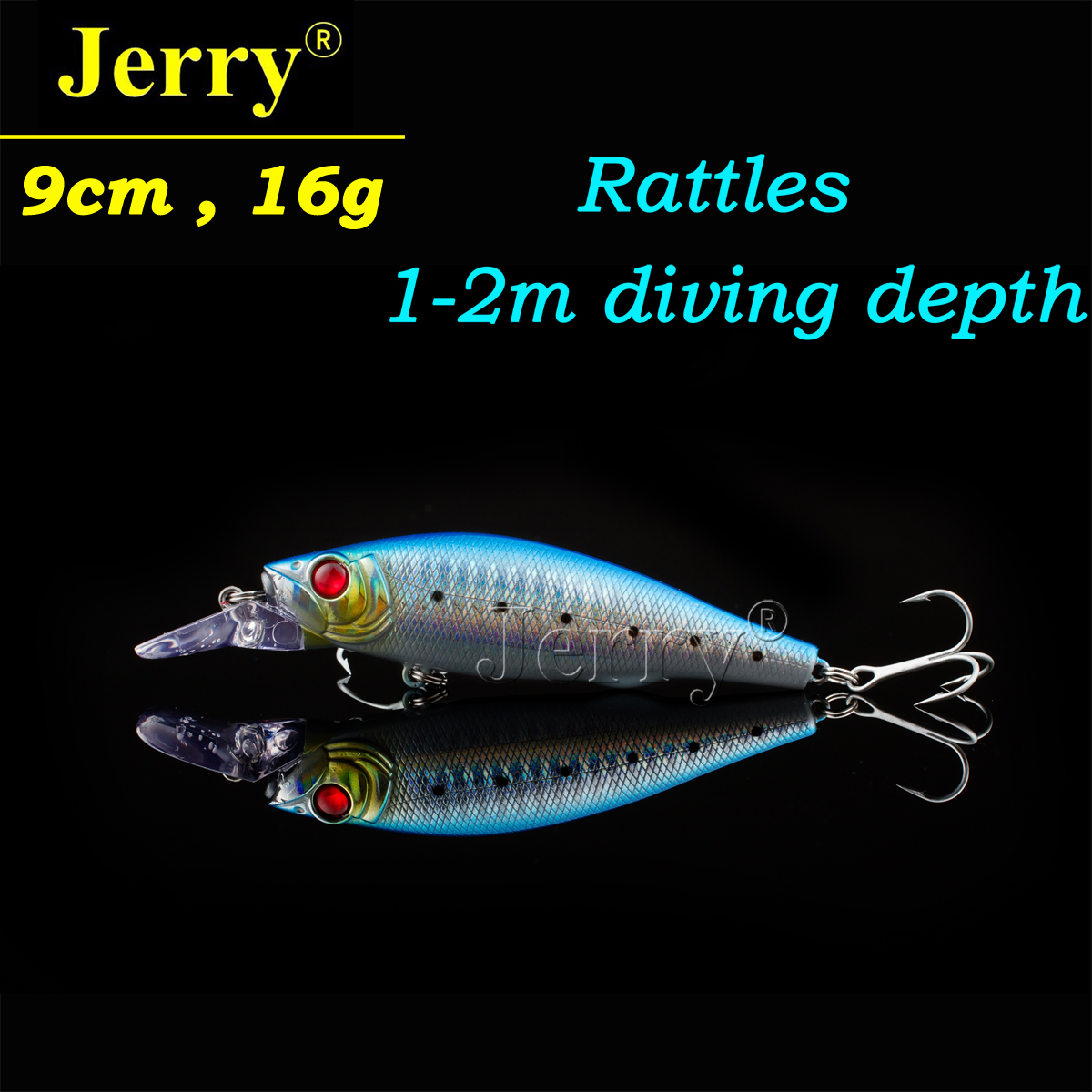 Jerry 1pc 9cm 16g jerkbait VMC hook best minnow floating crankbait hard lure plug sea fishing crank bait blue wldslure 1pc 54g minnow sea fishing crankbait bass hard bait tuna lures wobbler trolling lure treble hook