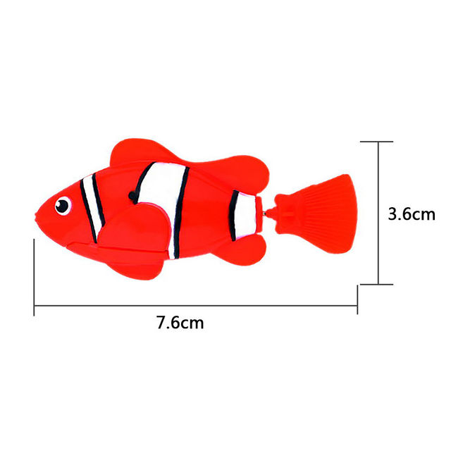 Trendy Robofish Activated Toy Robotic Pet Gift Fish Tank Aquarium Ornament Decor
