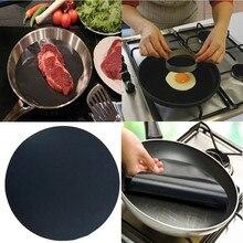 Высокотемпературный антипригарный поддон для сковороды, вкладыш с антипригарным покрытием, коврик для сковороды, подкладка для сковороды, коврик для кухонного вока, коврик для выпечки для барбекю