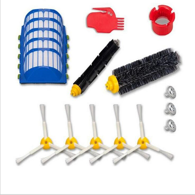 Replacement 5 Filter + 2 Brush + 5 Side Brush + 1 Cleaning Blade + 1 Cleaning Cylinder + 3 Screw For 600/610/611/627/620/630/650 2 brush 3 side brush 3 hepa filter 1 cleaning cylinder robot vacuum cleaner 610 611 627 620 630 650 replacement parts