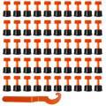 100 pièces plat céramique plancher mur outils de Construction réutilisable carrelage niveau cales carrelage entretoises Kittile système de nivellement Kit pour carrelage|Pièces d'outils de construction| |  -