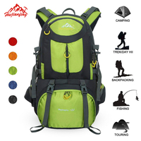 New 50L Climbing Hiking Backpack Waterproof Nylon Big Outdoor Backpack Travel Men Women Foldable Backpack Sport Camping Bags