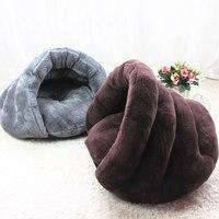 Nieuwe Pet Zachte Bruine Hond Kat Bed Huis Winter Warming Nest Mat Voor Kleine Honden Slaapzak Chihuahua Teddy Kennels Gratis verzending