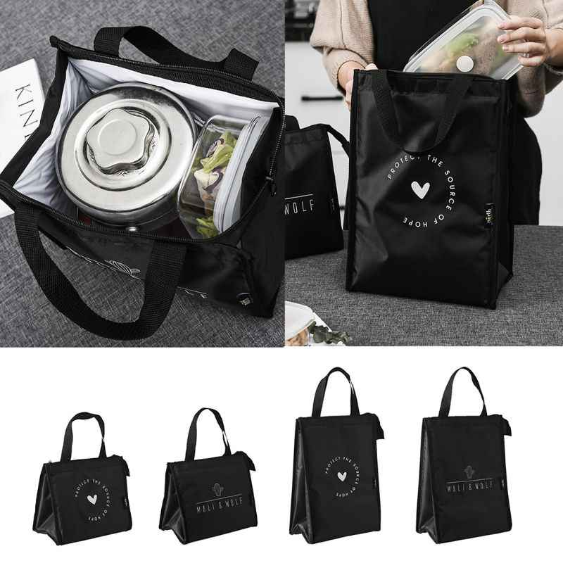 THINKTHENDO 2019 New Fashion Portable Insulated Thermal Cooler Fashion Lunch Box Tote Picnic Storage Bag Pouch