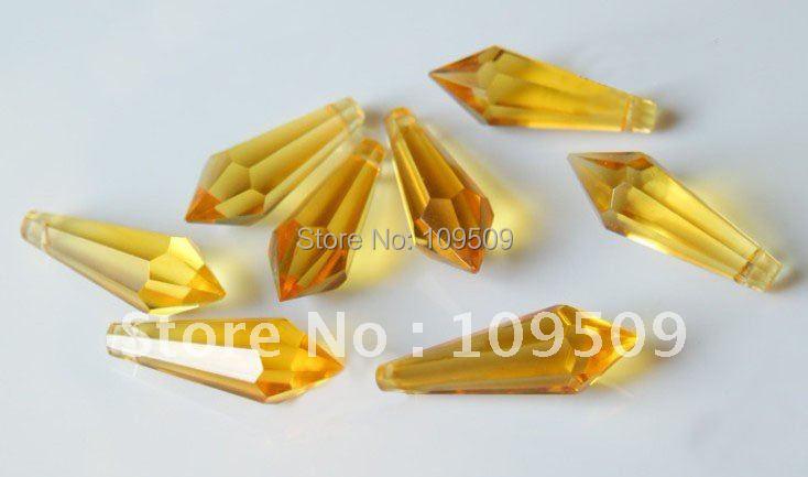 EMS/DHL, 38 мм желтый конус для подвесок люстры или осветительных частей или украшения дома